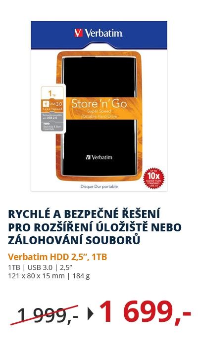 Verbatim HDD 2,5 1TB